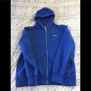 Nike Full ZIP Blue Sweatshirt size XL
